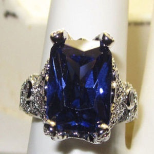 NWT ring desperate housewives tanzanite cz gold